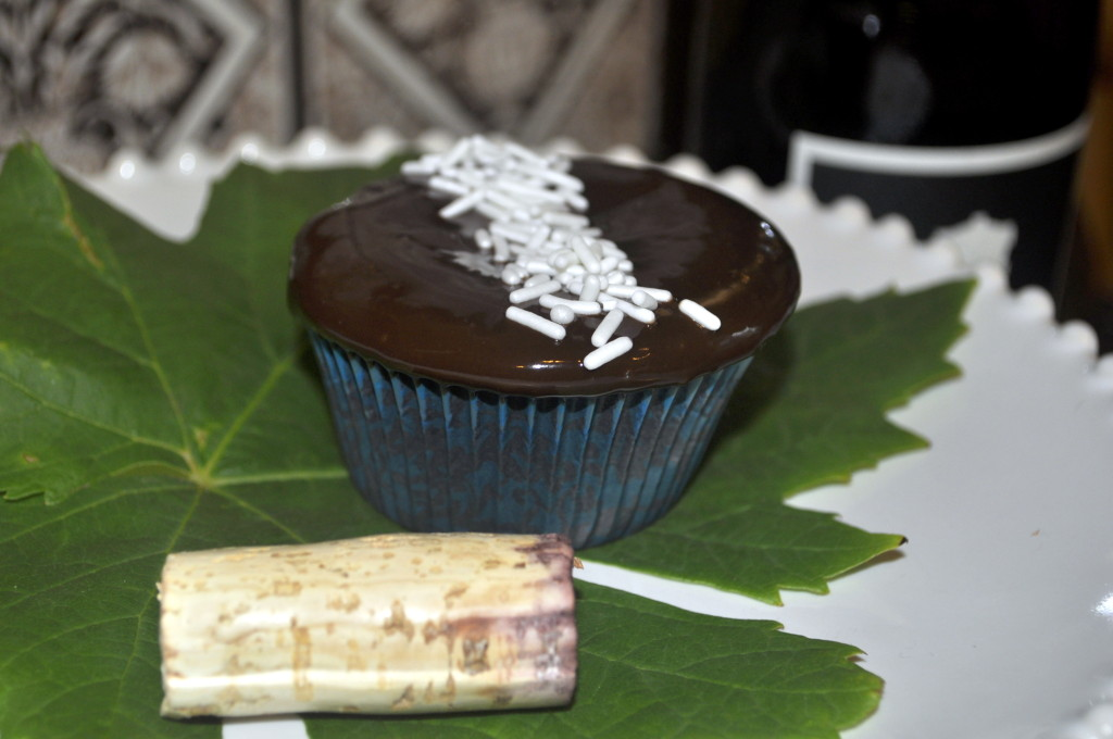 Here are the Red WIne Chocolate Cupcakes with Chocolate Glaze I tested