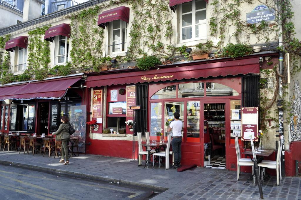 A beautiful cafe in le Marais, Paris