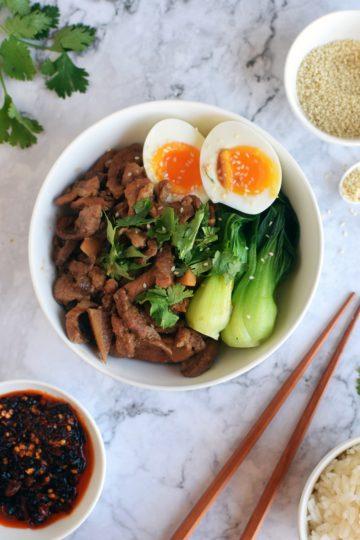 Braised Pork with Rice, Lu Rou Fan (滷肉饭)