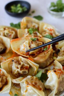 Pork + shrimp wontons