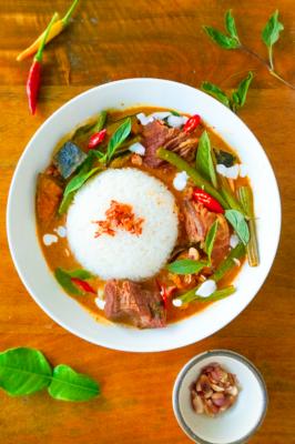 Penang Beef + Pumpkin Curry (slow cooker)