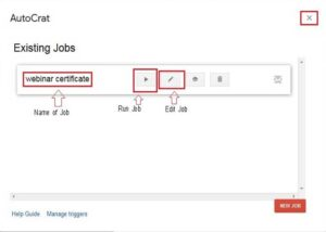 Webinar Certificate Automatically Existing Jobs