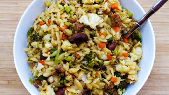 Photoshopped Roasted Vegetables with Orzo