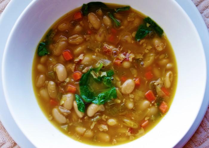 Photoshopped Tuscan white bean soup