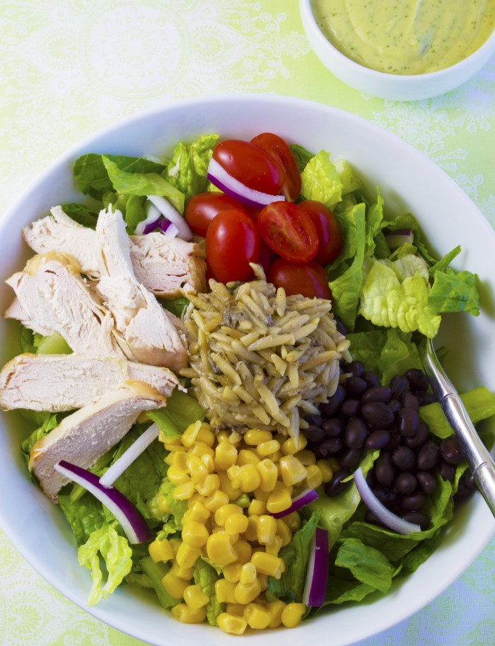Photoshopped Web chicken burrito bowl salad