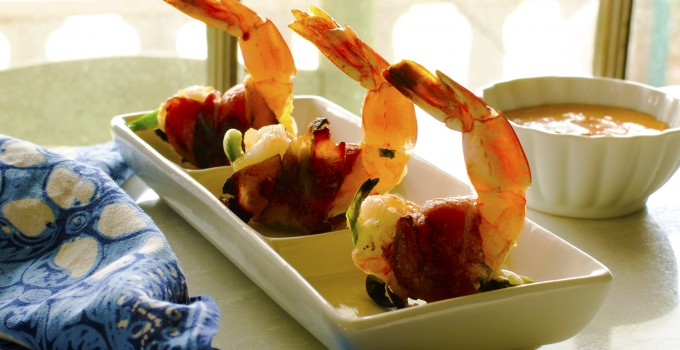 Bacon Wrapped Shrimp with Chipotle Aioli