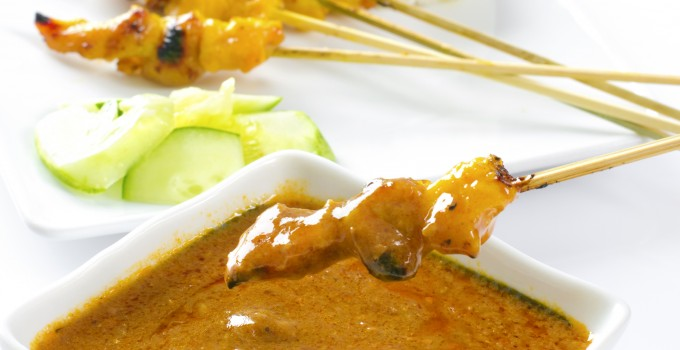 Peanut Butter and Jelly Chicken Satay