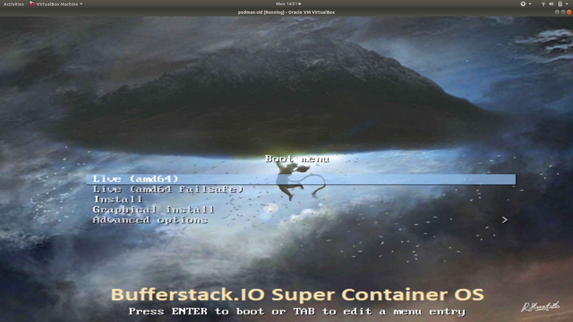 Super Container OS Live Boot