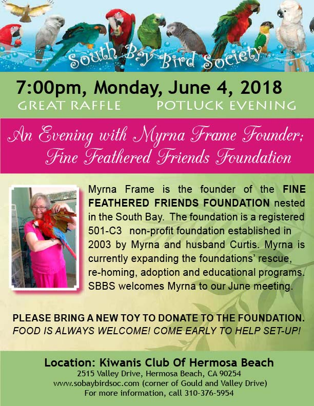 Myrna Frame, Fine Feathered Friends Foundation
