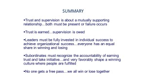 trust supervision summary