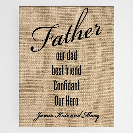 OurFatherCanvasSign