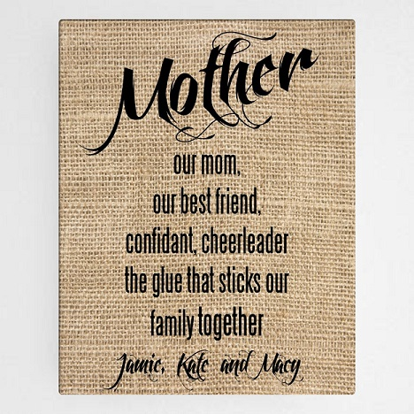 OurMotherCanvasSign