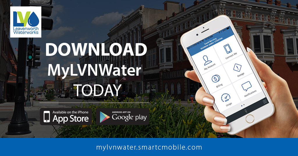 Download the mobile app MyLVNWater on App Store or Google play