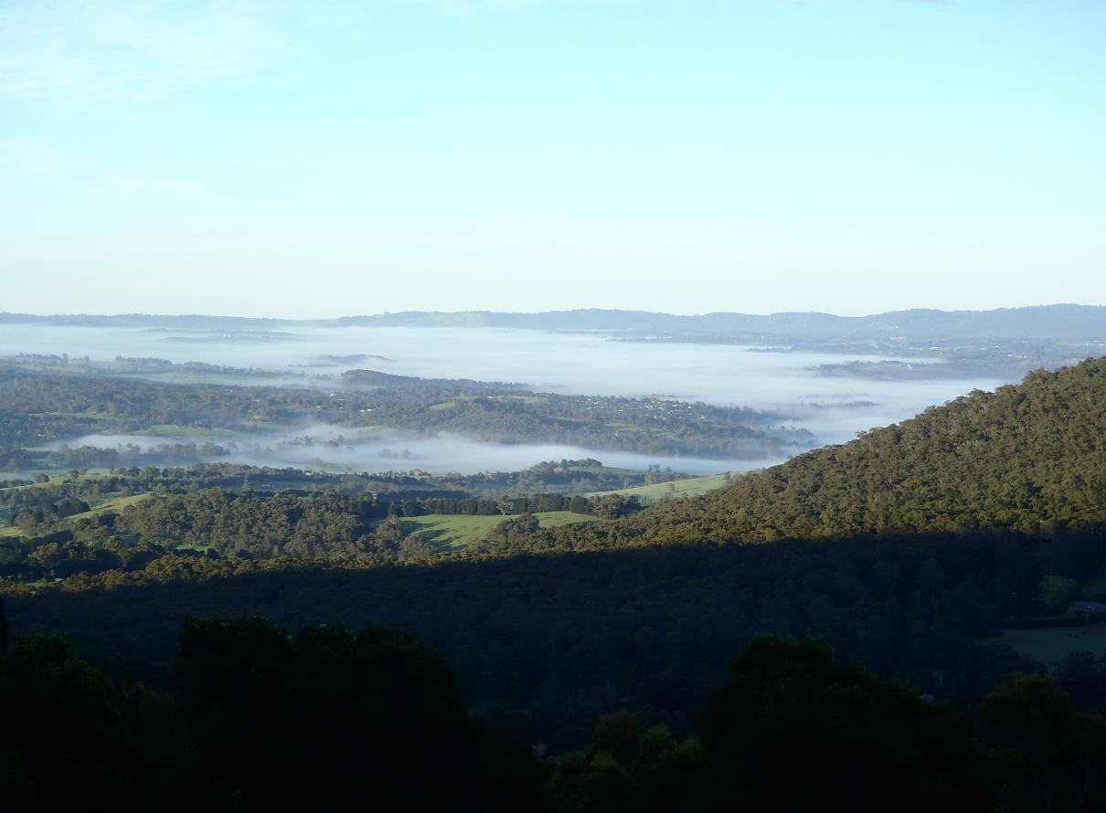 View across Yarra Valley
