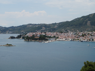 Skiathos Town from the point