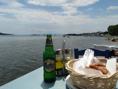 Lunch by the water, Skiathos
