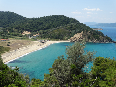 Mega Aselinos Beach from above. Perfect place to spend a day.