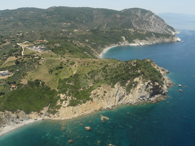 Skiathos Island from the air