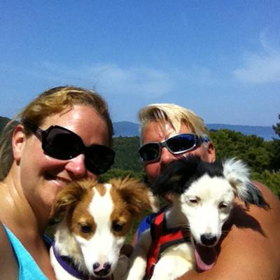 Ludo and Bangle from the Skiathos Dog Shelter