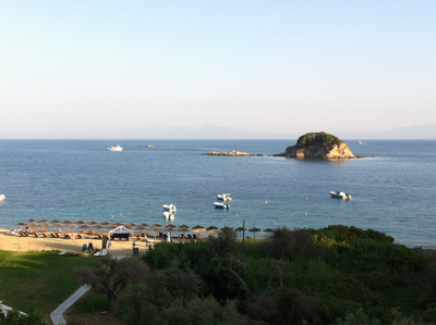View from our rooms at Villa Zaharo