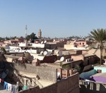 Marrakech from the terrace of El Badi Palace - Kasbah District