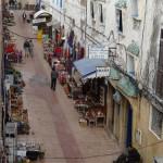 Essaouira markets below the rampart walls.