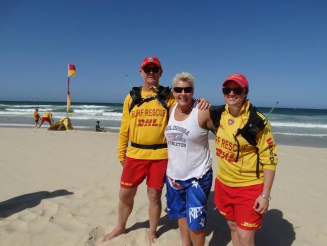 Hanging with the welcoming commitee members of Patrol 7, Marcoola Beach, Queensland.