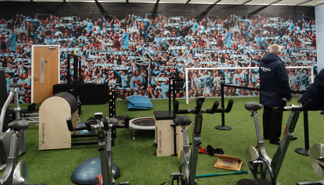 Suitably themed training room.