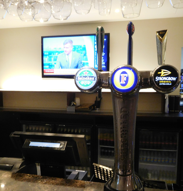 Where the rich people get their pint before going out to watch the game. Fosters on tap!