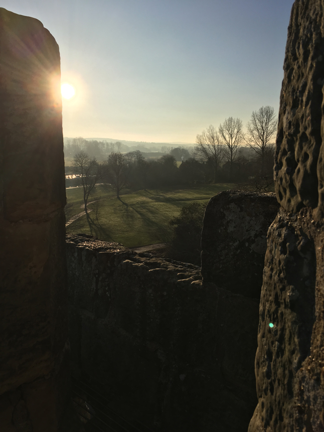 Looking over the Rother valley from the roof.