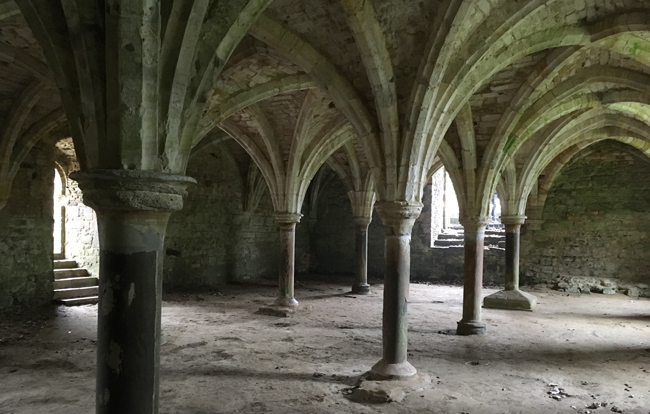 The Novices Common Room - below the upper dormitory rooms, the Common Room in Battle Abbey for novice monks.