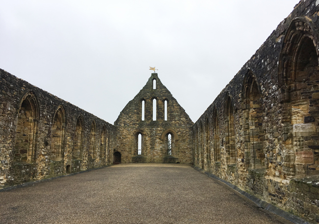 Battle Abbey - upstairs dormitory for the resident monks.
