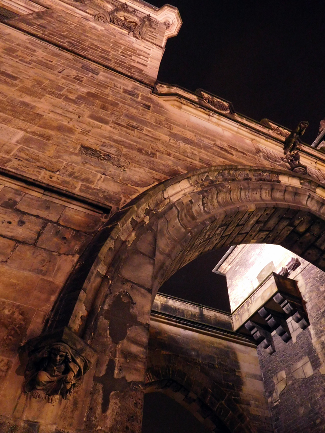 I couldn't get enough of the old stone towers and arches over Charles Bridge.