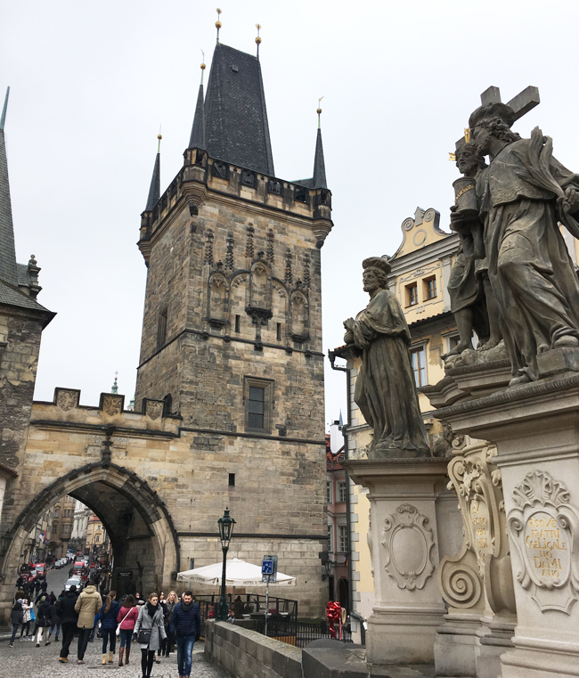 Lesser Town Bridge Tower and arch over Charles Bridge.