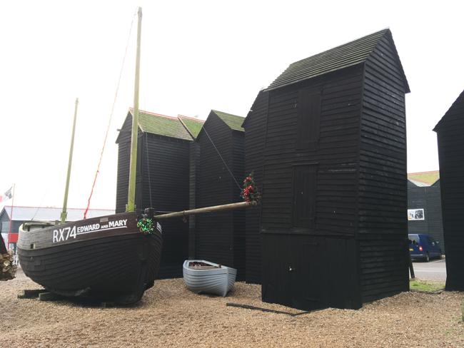 Fishermans huts at The Stade, Hastings.