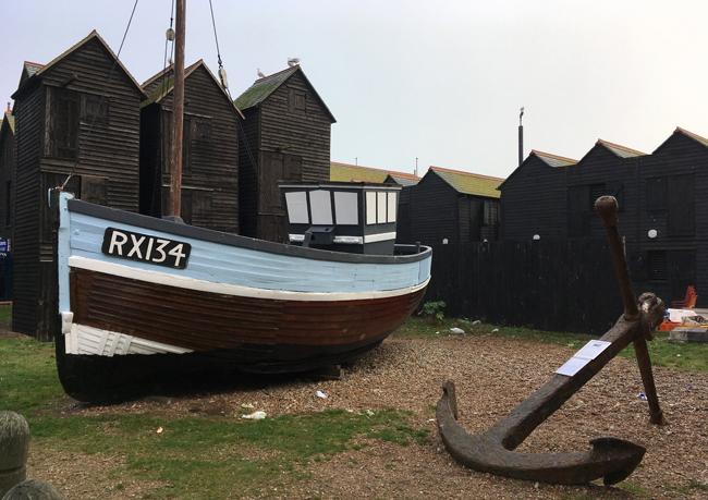 Fishing memorabilia at The Stade, Hastings.