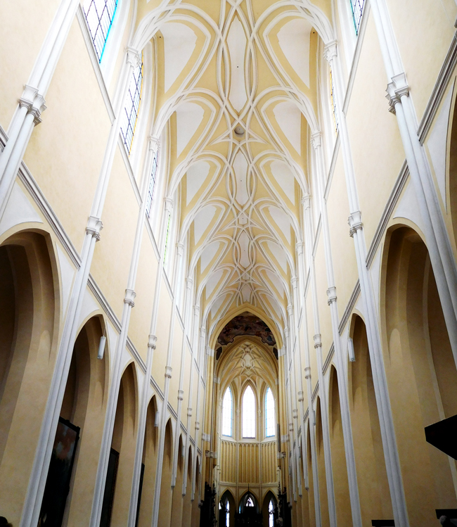 The Church of the Assumption of Our Lady and Saint John the Baptist - a Gothic and Baroque Gothic church in Kutná Hora listed in the UNESCO World Heritage List together with the Church of St. Barbara.