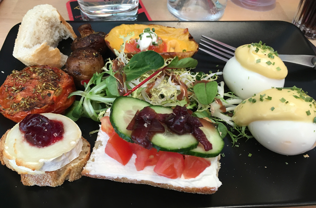 A variety of tastes for lunch at 'The Classroom'