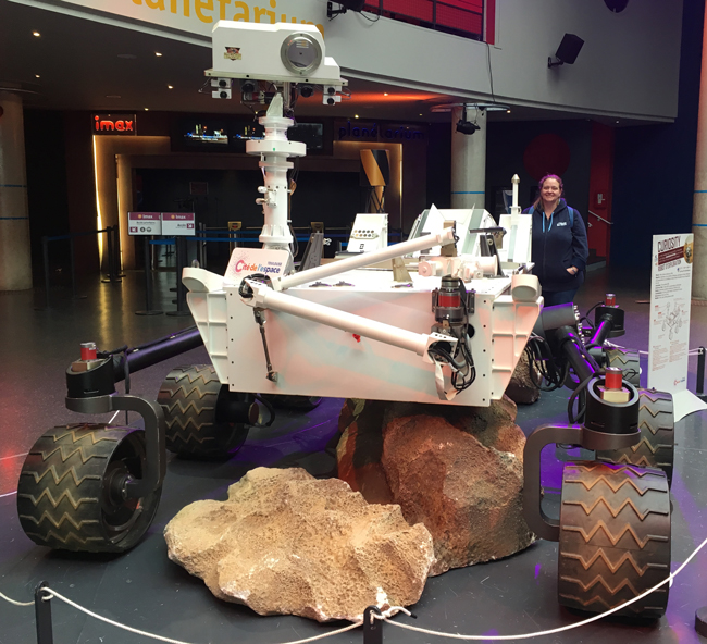 Curiosity Rover! Well, the full-size replica anyway. Obviously.