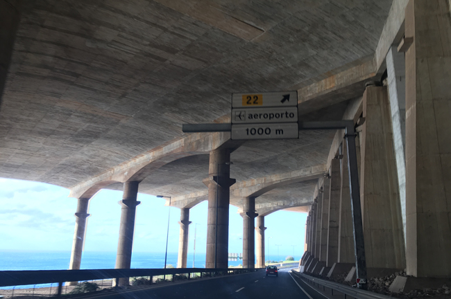 The sign's a little superfluous - that's the runway above.