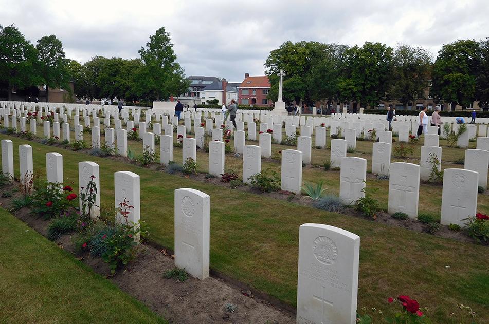 Australian fallen in the Ypres Reservoir Cemetery