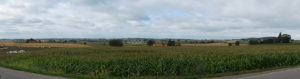 Looking across towards France and the Western Front. Looks a lot different without the quagmires and trenches