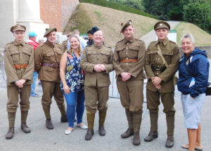 It's not every day you get a blast from the past beside the Menin Gate. These gents were part of the centennial commemorations