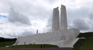 Vimy Ridge Memorial - Canada's memorial to their missing on the highest point of Vimy Ridge.