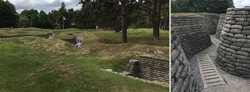 The preserved front line at Vimy Memorial Park where the Canadians and Germans faced off.
