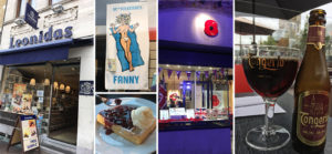 Belgian chocolate, waffles and robust beers on offer between interesting book shops and British Legion stores