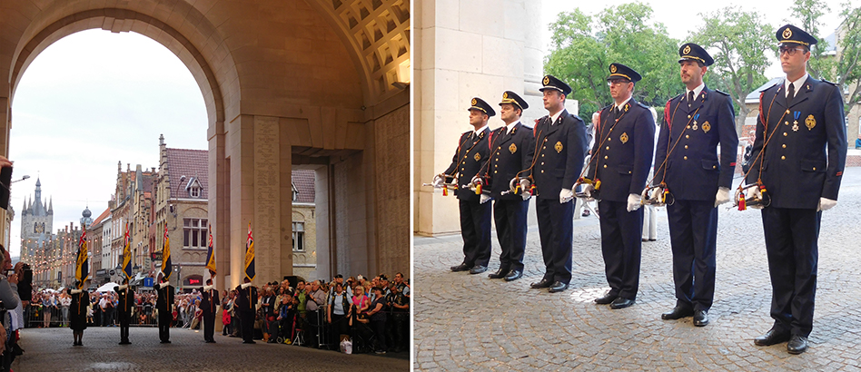 A full dress rehearsal of The Last Post ceremony the night before royals and dignitaries would be in the audience.