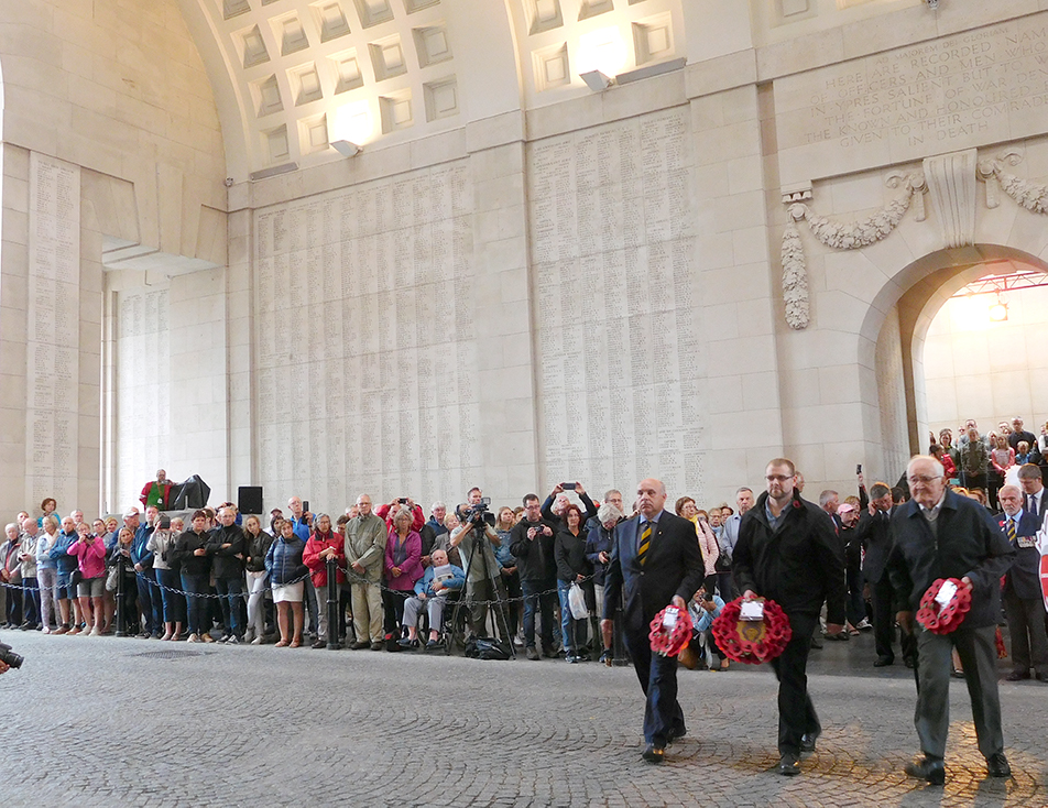 Our group, the CSSC, laying wreaths at Menin Gate.