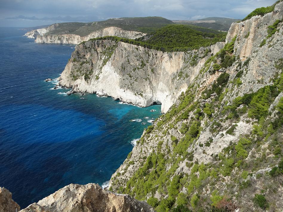 Akra Keri offers amazingly turquoise views over the crashing waves