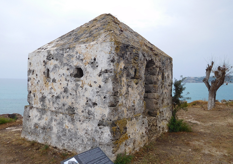 Vardiola in Planos - part of a late 17th century defence network. Stone-built observatories featured gun loops and were lookouts for threats from invaders on the Venetian settlement
